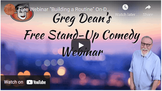 How to Build a Stand Up Comedy Routine Free Webinar